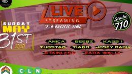 Episode 2 of Reggae Dancehall live-stream at Studio 710 this Sunday